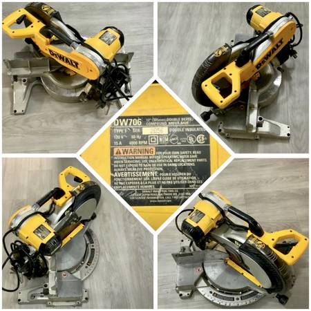 Photo DEWALT DW706 15 Amp 12-Inch Dual Bevel Compound Miter Saw - $250