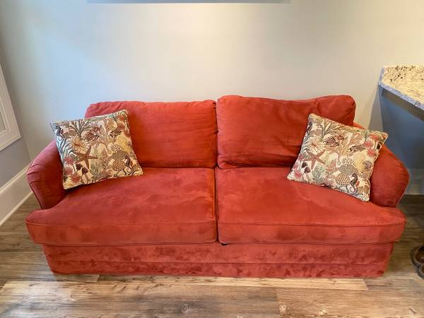 Photo Full size sofa bed and two pillows - $350 (Dothan)