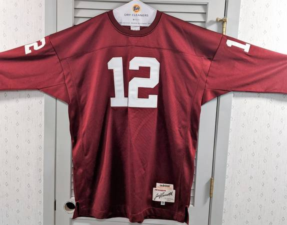 Photo Joe Namath Adidas Thowback Football Jersey 1964 Alabama Crimson Tide - $125 (Ozark)