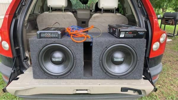 Photo two sundown audio 12s woth box and  - $450 (Headland)