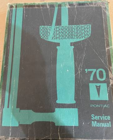 Photo 1970 Pontiac Service Repair Manual - $10 (DE FOREST)