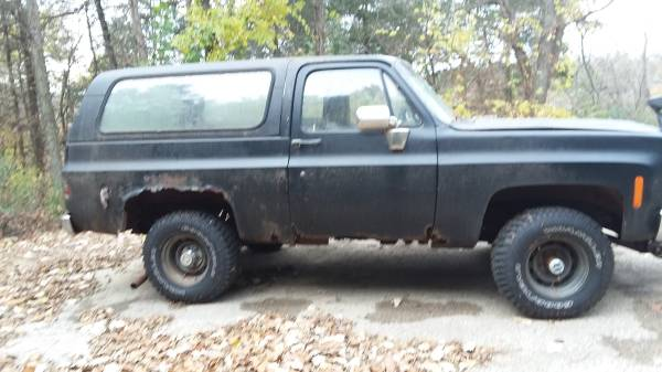 Photo 1975 Chevy Blazer plow truck for parts - $1,300 (Durango Iowa)