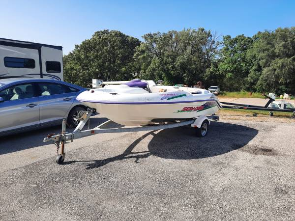 Photo 1995 seadoo speedster -twin engine ,with trailer - $1 (dubuque)