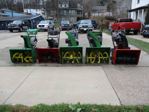 Photo (5) Clean Used Two-Stage Snow Blowers - $695 (Dubuque)