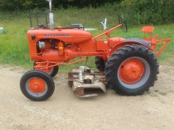Photo Allis Chalmers B Tractor with 59quot Belly Mower - $2,500 (Gays Mills, WI)