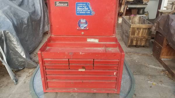 Photo Nice snap on 9 drawer top tool chest toolbox - $250 (Springville)
