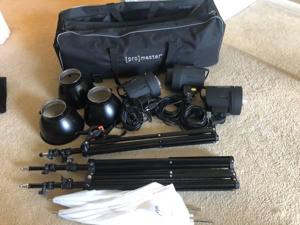Photo Studio Lighting Kit Pro Master - $100 (Rockford)
