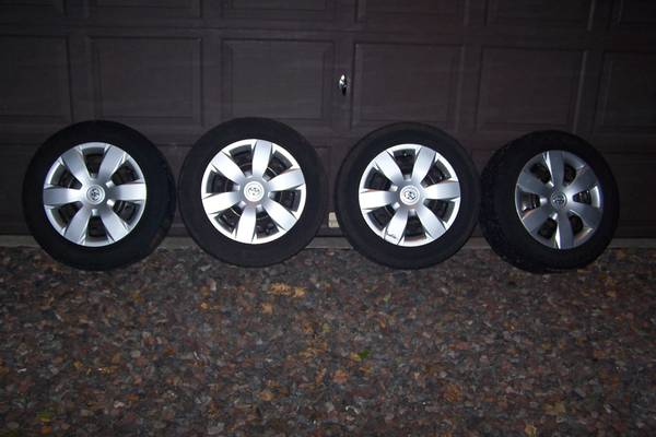Photo 4 Goodyear Allegra 21560R16 Tires Wheels Hub Caps Lug Nuts Camry - $200 (North of Duluth)