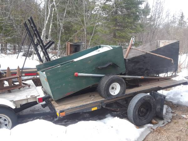 Photo 4 wheeler trailer and sleigh - $50 (Cotton mn)