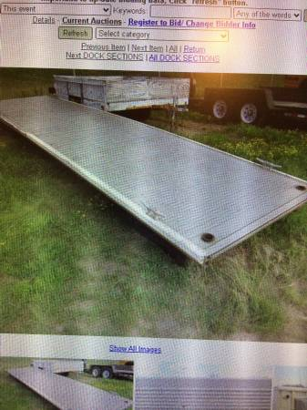 Photo 6039 Aluminum Floating dock - $600 (Hermantown)