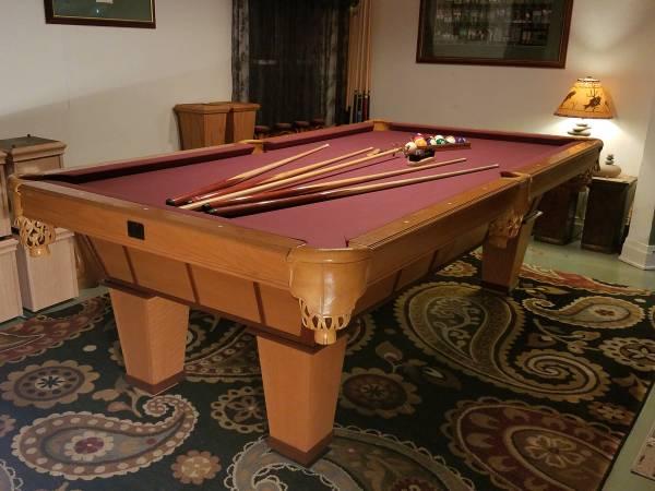 Photo 839 CUSTOM 2 TONE KASSON SLATE POOL TABLE DELIVERY  SETUP AVAILABLE - $1250 (Duluth, MN)