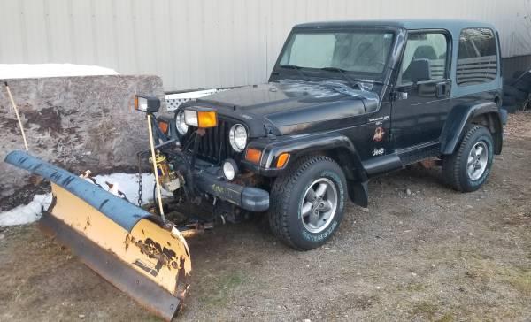 Photo 97 Jeep Wrangler Sahara with plow, 85000 miles - $12,500 (rural Hibbing)