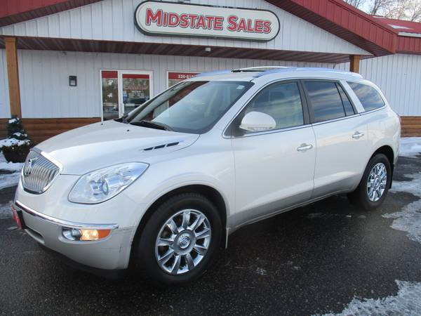 Photo AWD LOADED LUXURY CROSSOVER SUV 3RD ROW 2012 BUICK ENCLAVE PREMIUM - $10000 (MIDSTATE SALES, FOLEY, MN)