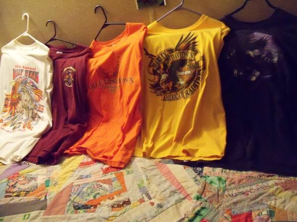 Photo Assorted Harley Davidson T-Shirts - $10 (Bovey,MN)