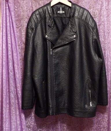 Photo Faux Leather Men39s Jacket sz 4x - $90 (Greenwood Township, Tower)