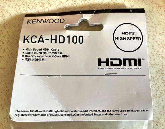 Photo Kenwood KCA-HD100 HDMI to HDMI Cable - $10 (Superior)