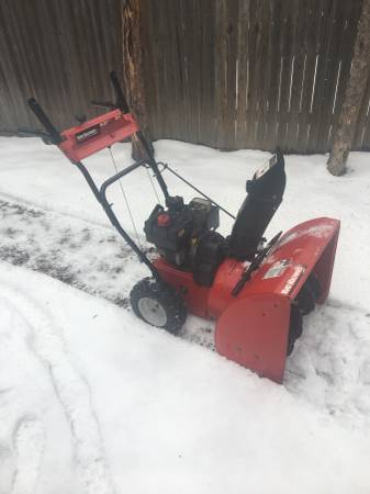 Photo MTD Yard Machines 5.5hp 24 Cut Snowblower W Electric Start - $350 (55783 By Moose Lake)