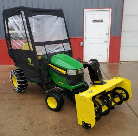 Photo New John Deere X394 Lawn Mower with Cab and Snow Blower - $8000 (Rice Lake, WI)