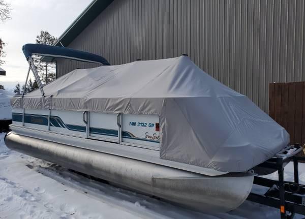 Photo Newly Refurbished 2139 PREMIER CRUISE Pontoon Boat 2004 75 HP EFI Motor - $12900 (Remer, MN)