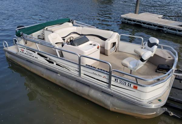 Photo Nice 2139 FISH and CRUISE Pontoon Boat with 2014 60 HP MERCURY 4-STROKE - $15,900 (Remer, MN)
