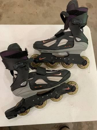 Photo Nike Air Zoom Carbon Roller Blades Inline Skates Mens Sz gray hockey - $30 (Cloquet)
