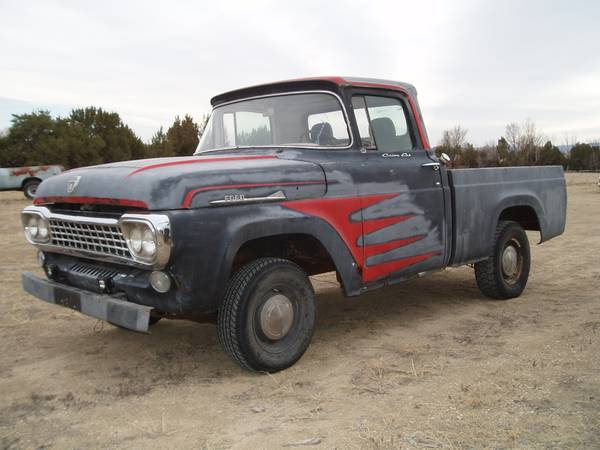 Photo 1958 Ford F100 shortbed Project - $1,800 (Penrose)