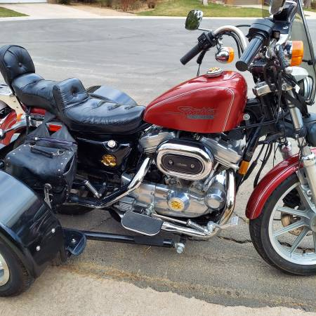 Photo 1991 HD Sportster XL883 with Trike Kit - $4,700 (Highlands Ranch)