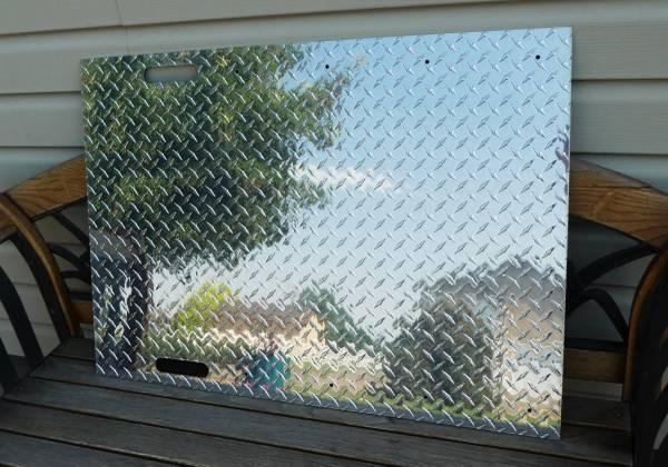 Photo 37quotx 26quotx .135quot Aluminum Tread Brite Diamond Plate Sheet - $40 (Brighton (Todd Creek Area))