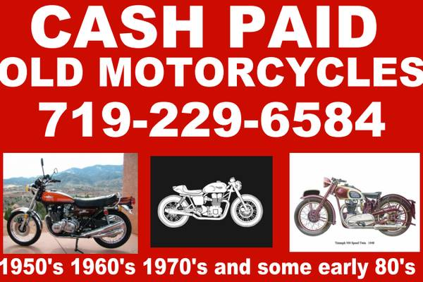Photo Cash paid for old KAWASAKI 1000 , 900 z1 , H2 , H1 , S2 , KH400 GT750 - $123 (Colorado Springs)