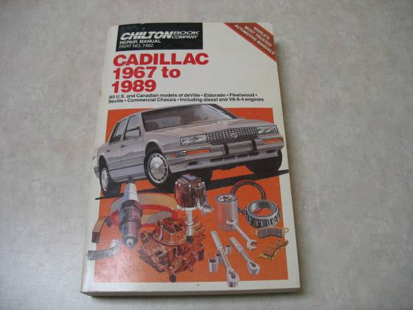 Photo Chilton Repair Manual Cadillac 1967 to 1989 - $7 (Westminster)