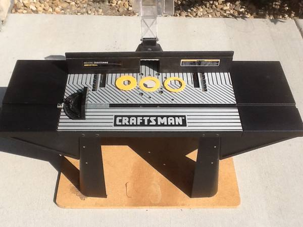 Photo Craftsman Industrial Bench Top Router Table No. 25483 WAccessories - $120 (Castle Rock)