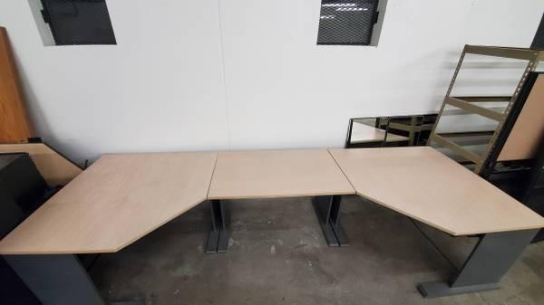 Photo Large 3-piece Desk  Workspace approx 36 sqft - $150