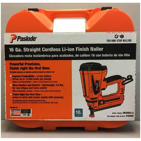 Photo Paslode 16-Gauge 2.5-in 7.5-Volt Cordless Finish Nailer New - $229 (Greeley)
