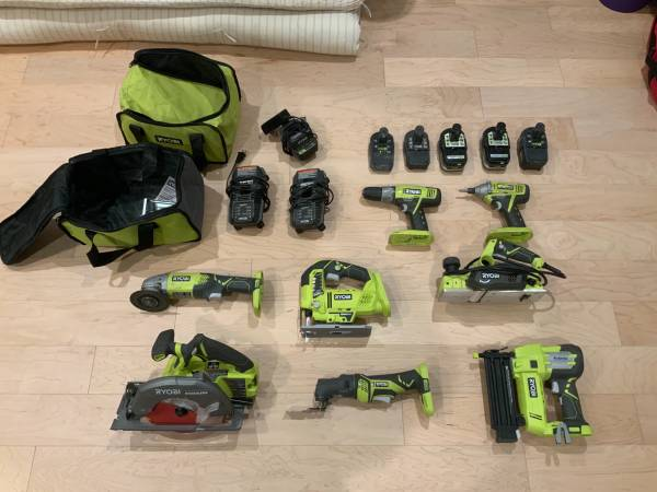 Photo Ryobi Power Tools (only saw and drill remaining) - $60 (Boulder)