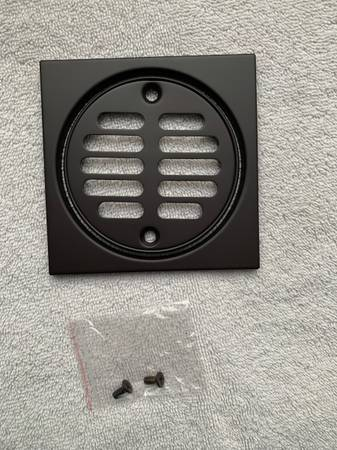 Photo Shower Strainer Set - Square with Crown, Oil Rubbed Bronze, New - $20 (Broomfield - Shower Strainer Set - Square with Crown, New)