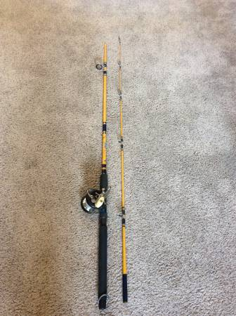 Photo Vintage Eagle Claw Rod with Ocean City Reel - $40 (Lakewood)