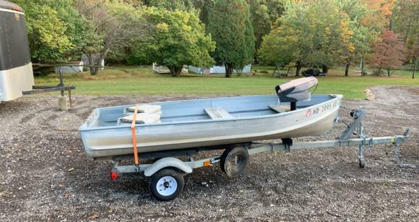 Photo 12 Dingy  Jon Boat and Trailer - $950 (Eldersburg)