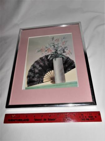 Photo 15 x 12 Fan  Flower Vase Print Vintage SALE Wall Art 12 x 12 Frame - $3 (West Fenwick Island)