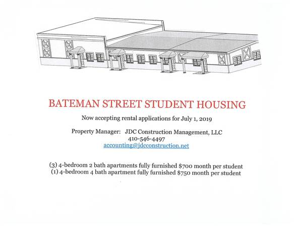 Bateman Street Student Housing Salisbury Md Rooms For
