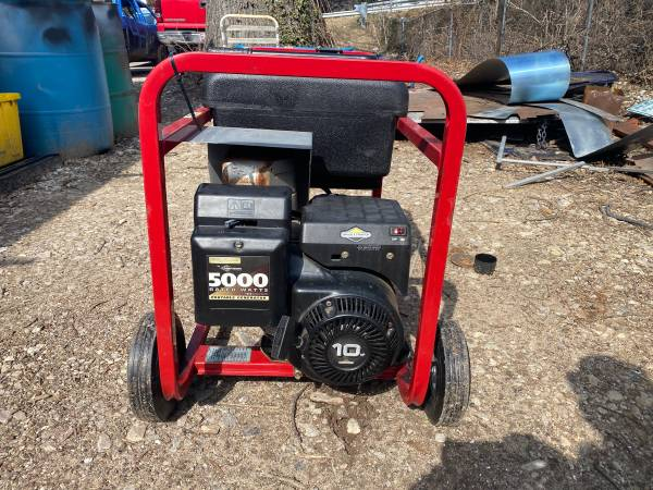 Photo Briggs  Stratton Genrerac 5000 watt 7000 surge generator - $400