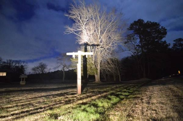 Photo Crucifix, Life size, 10 Feet tall, rustic (Berlin, Md.)