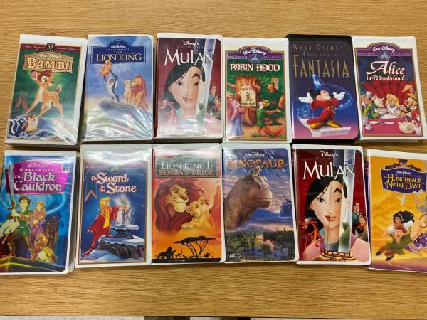 Photo Disney VHS Tapes - $1 (Alexandria)