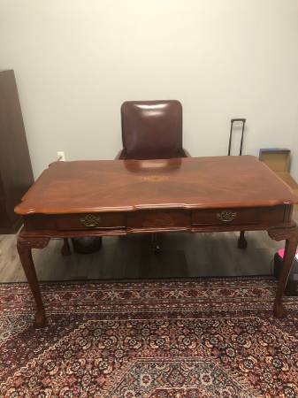 Photo Executive Wood Office Desk with Leather Chair - $250 (Salisbury)