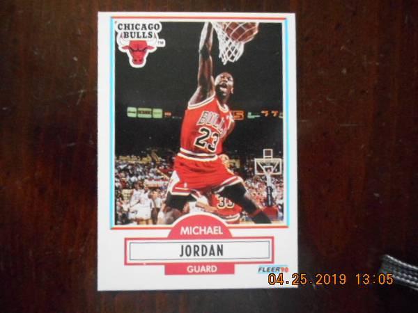 Photo Michael Jordan 1990 Fleer Basketball Card - $15 (Salisbury)