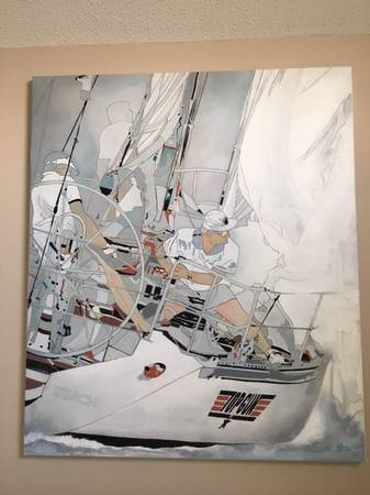 Photo Oil Painting, 4 ft x 4.5 ft. Nautical quotTop Gunquot - $295 (South Bethany)