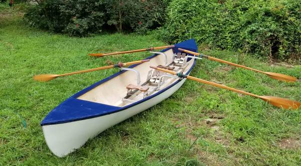 Photo Sliding seat rowing shell - two person - $800 (Port Deposit)