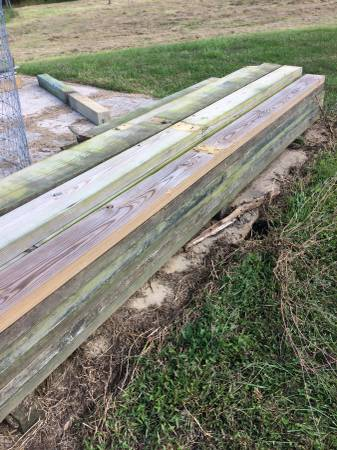 Photo Treated Beams and Posts - Used - $22 (Earleville, Maryland)