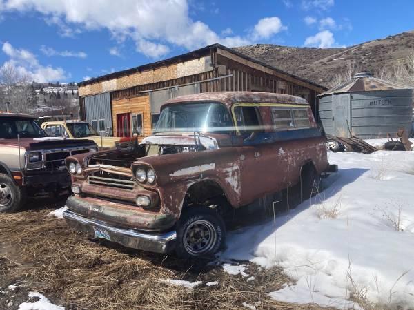 Photo 1959 Chevy panel wagon - $1,500 (Driggs)