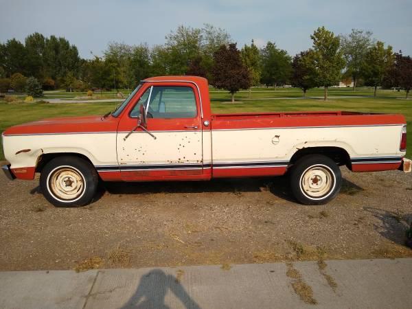Photo 1978 Dodge D150 - $1,000 (Blackfoot)