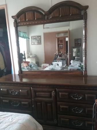 Photo 9 Drawer Dresser - Solid Oak - $400 (Idaho Falls, ID)